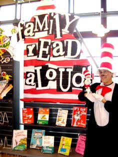 Family Read Aloud Dr. Seuss display. from Kelsie at the Yelm Library, Ladybird Librarian