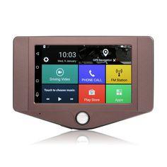 "Udrive New 3G 4.2"" Car DVR camera Android 5.0 GPS Navigation Dual lens Bluetooth Rearview Automobile Navigator car dvrs Recorder"