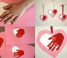 Peinture tactile valentine!