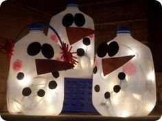 milk jug snowman by alicealice