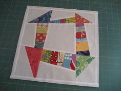 one more for the month, I had to try this block. This is the tutorial.... www.sewjoycreations.com/2010/10/liberated-churn-dash-tuto...