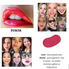 Fuscia LipSense color.