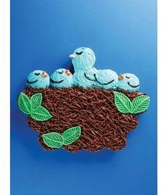 Bluebird Nest Cupcake Cake · Edible Crafts   CraftGossip.com