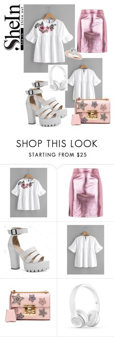 """""""flowers armament"""" by natali-lustova ❤ liked on Polyvore featuring Topshop and Gucci"""