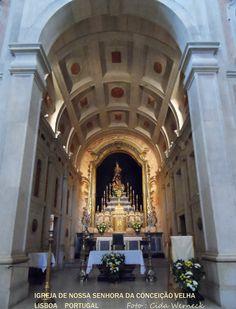 No interior da Igreja de Nossa Senhora da Conceição Velha em Lisboa, Portugal. Fica próxima à Praça do Comércio. Foto : Cida Werneck