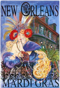 Image result for new orleans postcards mardi gras