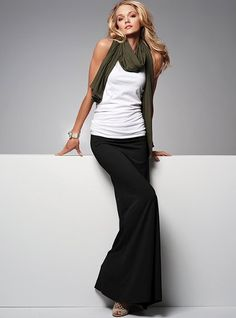 black maxi skirt@Arielle Danielson ... this looks like the one I found you ... didn't know they were so trendy :)