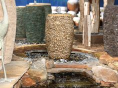 Pebble Jars are a lovely addition to any yard as a disappearing fountain #NWG #NelsonWaterGardens #disappearingfountains