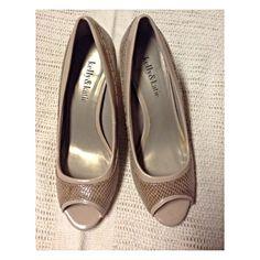 Peep-Toe Heels! Color: Nude Kelly & Katie Shoes Heels