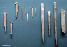 bone tools- GERMANY, UPPER PALEOLITHIC.  STONE AGE THINGS.