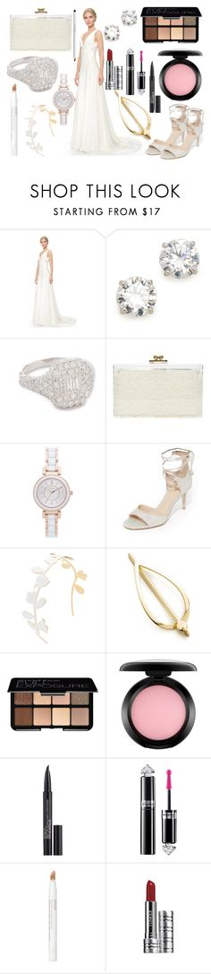 """""""Be  a bride"""" by hillarymaguire ❤ liked on Polyvore featuring Theia, Kenneth Jay Lane, Shay, Ashlyn'd, DKNY, Diane Von Furstenberg, Marni, Elizabeth and James, Smashbox and MAC Cosmetics"""