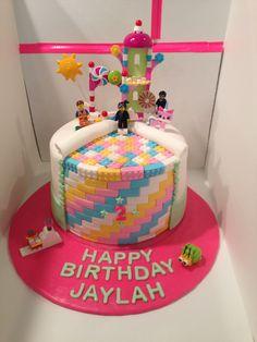Wyldstyle Lego Fondant Cake