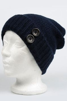 Nine West Jessica Alternate Jersey Beanie In Midnight