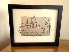 Hogwarts Will Always Be There To Welcome You Home    Beautiful frame featuring an outline of Hogwarts Castle and J/K Rowlings quote ;) Vinyl is