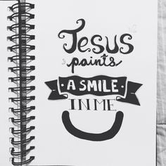 Jesus paints a smile in me :)