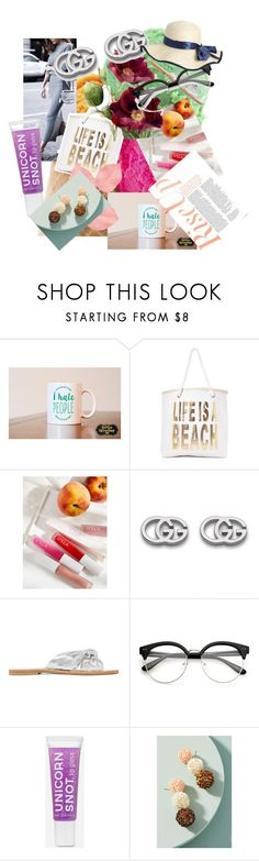"""Just Pile up the Things ya Love..."" by clairehazel ❤ liked on Polyvore featuring Nasty Gal, Free People, Gucci, Loeffler Randall and Anthropologie"