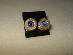 Bullet shell casing earrings/Remington by CreationsbyMaryEllen