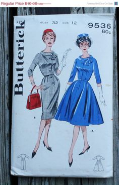 25%SewIntoSummerSale Butterick 9536 1960s 60s by EleanorMeriwether