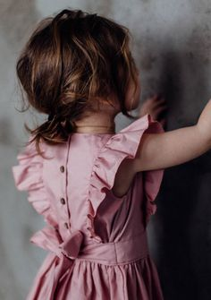 Handmade Frill Sleeve Dress | TinyBunnyKids on Etsy