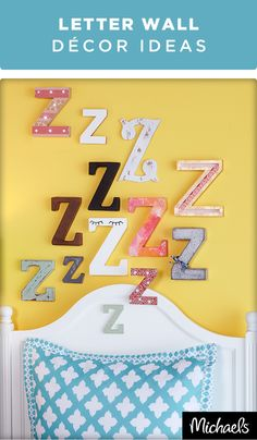 Catch some Z's with this unique wall decor that's perfect for any dorm or bedroom. Choose from a selection of letters in the all new Make Market™ line at your local Michaels store.