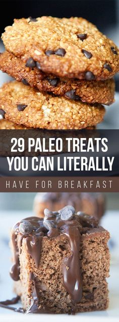 Weight Loss 29 Paleo Treats You Can Literally Have for Breakfast - 29 Paleo Treat Recipes You Can Literally Have for Breakfast; the most delicious paleo recipes to try for breakfast. They're healthy, delicious Paleo Dessert, Paleo Sweets, Dessert Recipes, Healthy Desserts, Healthy Foods, Keto Foods, Meal Recipes, Healthy Treats, Healthy Habits