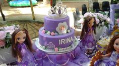 Princess Sofia the First birthday party cake! See more party planning ideas at CatchMyParty.com!