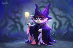 grummpy cat as Maleficent