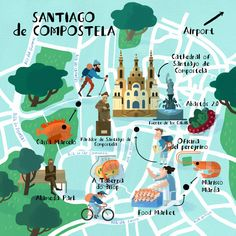 Steve McCarthy - Map of Santiago de Compostela