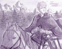 Horseface riding a horse