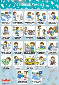 1 million+ Stunning Free Images to Use Anywhere Portuguese Lessons, Learn Portuguese, Homeschool Kindergarten, Preschool, Kids Education, Special Education, Chore Chart Pictures, Toddler Routine, Chore Chart Kids