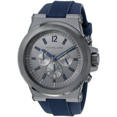 48f70117243a Michael Kors Men s MK8493  Dylan  Chronograph Blue Silicone Watch