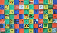 Diversity Quilt- each class gets quilt squares of a certain color, and students make individual squares about their family's traditions, values, and holidays. Hang up with all classes from a grade-level for a diversity quilt representing students.
