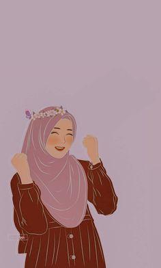 Girl Cartoon Characters, Cartoon Girl Images, Cartoon Art Styles, People Illustration, Illustration Art, Hijab Drawing, Cool Instagram Pictures, Teen Girl Photography, Islamic Cartoon