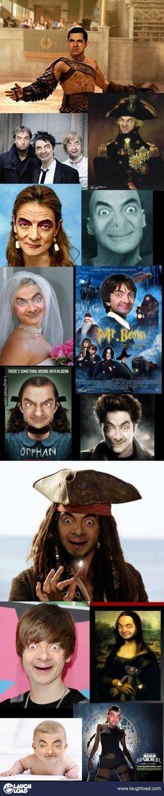 Mr.Bean face swaps...