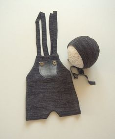 NEW-Newborn Photography Prop Overalls and Matching by zoik on Etsy