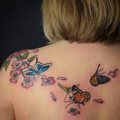 Did these pretty little butterflies in Tammy yesterday #butterflytattoo @goodtimestattoo
