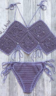 35 Free Swimsuit Summer Crochet Pattern Start The Season Properly! New 2019 - Page 22 of 35 - stunnerwoman. Crochet Bikini Bottoms, Crochet Bikini Pattern, Swimsuit Pattern, Crochet Crop Top, Crochet Shorts, Crochet Crafts, Crochet Projects, Crochet Designs, Crochet Patterns