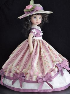 """SCARLETT OHARA"" VICTORIAN BALL GOWN SET MADE FOR EFFNER LITTLE DARLING 13"" DOLL"
