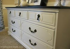 DIY On the Cheap: How To Paint Furniture: A Beginner's Guide... Good advice directly in the article, and even more in the comments. Definitely worth the read if you are planning on doing this soon.