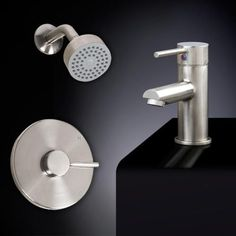 Rotunda Shower Set #9 - Straight Spout Single-Hole Faucet - Overflow - Chrome