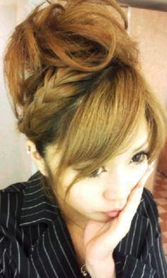 Cute gyaru hair bun