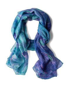 Beautiful shades of blue scarf