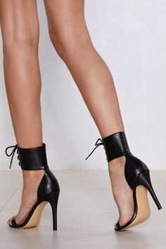 Nice Tie Croc Heel | Shop Clothes at Nasty Gal!
