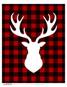Buffalo Check Plaid Printable Gift Tags & Deer Head Silhouette + a HUGE Giveaway! - Happiness is Homemade