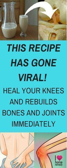 natural remedy to heal your knees