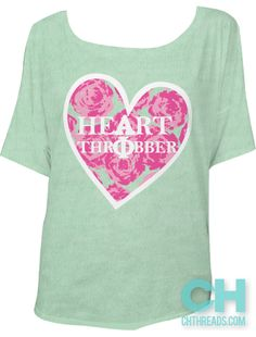 Alpha Phi Lilly Heart Robber Slouchy Tee // chthreads.com #lillypulitzer #aphi #hearts #floral