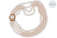 One Kings Lane - Meriwether - 4-Strand Akoya Pearl Necklace
