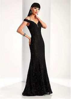 Stunning Lace Off-the-shoulder Neckline Mermaid Evening Dresses With Hot-fix Rhinestones