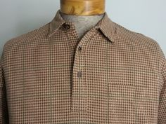 NWT Polo Ralph Lauren Pocket Polo Sz XXL Brown & Beige Houndstooth Pima Cotton #RalphLauren #Polo #BrandNew #Brand #New #NewWithTags #New #With #Tags