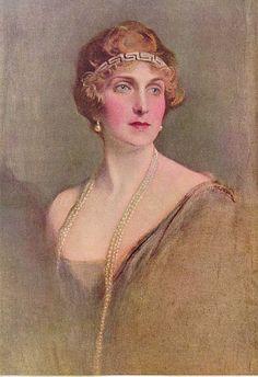 Victoria Eugénie of Battenberg, Consort Queen of Spain, 1920  // by Philip Alexis de Laszlo